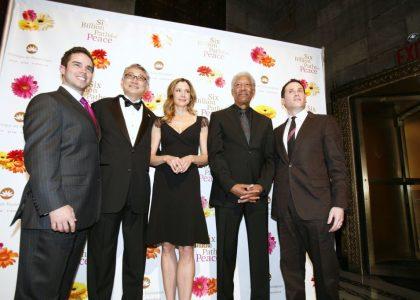 Brett Hickey Receives Pathfinders to Peace Award Alongside Morgan Freeman