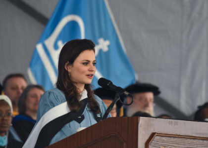 Olympic Silver Medalist and SMCF Advisor, Sasha Cohen Gives Columbia University 2018 Commencement Speech